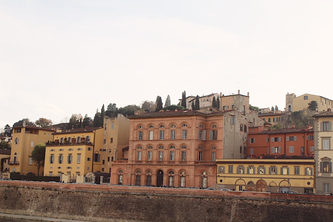 Building lining the Arno river